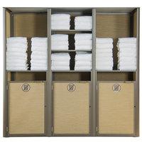 Grosfillex US174599 Sunset Bronze Triple Unit Towel Valet