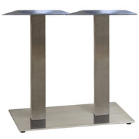 Grosfillex US505009 Gamma 16 inch x 28 inch Silver Gray Dining Height Lateral Table Base