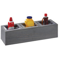 Cal-Mil 3837-3-83 Ashwood Gray Oak Action Station 1/6 Size Pan Unit - 11 3/4 inch x 7 1/2 inch x 6 1/4 inch