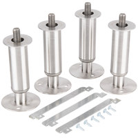 Manitowoc K-00145 6 inch Adjustable Secured Stainless Steel Flanged Feet - 4/Set