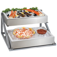 Cal-Mil 4120 Metal 2-Tier Angled Ice Housing Display Riser - 26 1/8 inch x 26 inch x 14 1/8 inch