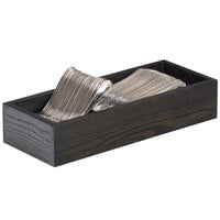 Cal-Mil 3819-87 Cinderwood Two Compartment Oak Wood Flatware Organizer - 15 1/8 inch x 5 1/2 inch x 4 3/8 inch