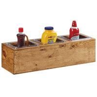 Cal-Mil 3837-3-99 Madera Rustic Pine Action Station 1/6 Size Pan Unit - 11 3/4 inch x 7 1/2 inch x 6 1/4 inch