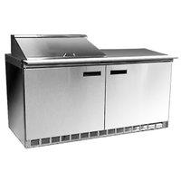 Delfield 4464N-8 64 inch 2 Door Refrigerated Sandwich Prep Table