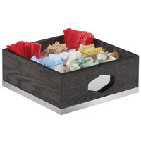 Cal-Mil 3809-87 Cinderwood Nine Section Condiment Organizer with Removable Divider - 12 inch x 12 inch x 6 inch
