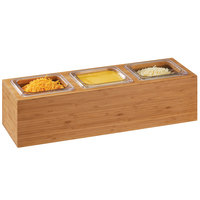 Cal-Mil 3837-3-60 Bamboo Action Station 1/6 Size Pan Unit - 11 3/4 inch x 7 1/2 inch x 6 1/4 inch