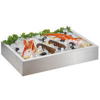 Cal-Mil 4120-TRAY Insulated Metal Tray for 2-Tier Ice Housing Display - 24 inch x 16 inch x 4 1/2 inch