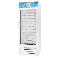 Beverage Air MMF27-1-W-ICE-LED MarketMax White Indoor Ice Merchandiser with LED Lighting - 27 cu. ft.