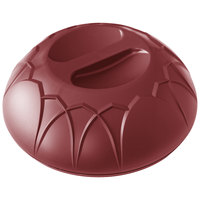 Dinex DX540061 Fenwick Cranberry Insulated Meal Delivery Dome for 9 inch Plate - 12/Case