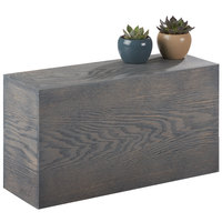 Cal-Mil 166-11-83 Ashwood Gray Oak Wood Rectangular Riser - 20 inch x 7 inch x 11 inch
