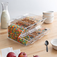 Choice 11 inch x 4 inch x 7 inch Stackable Candy / Topping Dispensers with Scoop Holsters   - 3/Set