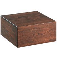 Cal-Mil 432-6-78 Mid-Century Square Walnut Wood Riser - 12 inch x 12 inch x 6 inch