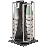 Cal-Mil 3803-87 Cinderwood 4-Section Revolving Cup and Lid Organizer
