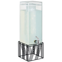 Cal-Mil 4102-3-13 Portland 3 Gallon Beverage Dispenser with Ice Chamber and Black Wire Base - 25 inch x 8 inch x 8 inch