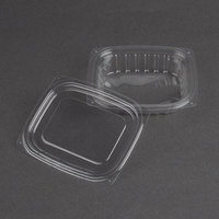 Dart Solo C8DCPR ClearPac 8 oz. Clear Rectangular Plastic Container with Lid - 252/Case