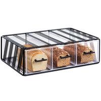 Cal-Mil 4119-13 Portland 3 Drawer Bread Display Case - 22 1/4 inch x 14 3/4 inch x 7 inch