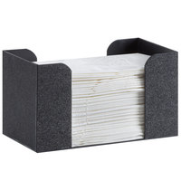 Cal-Mil 3693-13 Classic Black ABS Napkin Holder - 9 inch x 5 inch x 5 inch