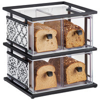 Cal-Mil 4025-85 Granada 2 Tier Melamine Tile Bread Display Case - 19 inch x 14 1/4 inch x 20 1/4 inch