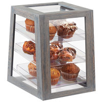 Cal-Mil 3830-83 Ashwood Gray Oak 3-Tier Removable Tray Display Case - 13 1/2 inch x 11 1/4 inch x 15 inch