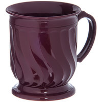 Dinex DX300061 Turnbury 8 oz. Cranberry Insulated Mug with Pedestal Base - 48/Case