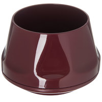 Dinex DX420061 Heritage 5 oz. Cranberry Stackable Insulated Bowl - 48/Case