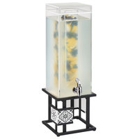 Cal-Mil 4027-3INF-85 Granada Black 3 Gallon Beverage Dispenser with Infusion Chamber - 25 1/2 inch x 8 1/4 inch x 8 1/4 inch