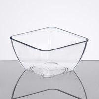 Dinex DXSB1207 12 oz. Clear Square SAN Plastic Bowl - 48/Case