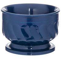 Dinex DX320050 Turnbury 5 oz. Dark Blue Insulated Bowl with Pedestal Base - 48/Case