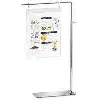 Cal-Mil 4301 Metal Hanging S-Hook Sign Holder with Stainless Steel Hooks - 10 inch x 4 inch x 18 1/2 inch