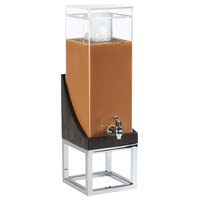 Cal-Mil 3804-3-87 Cinderwood 3 Gallon Beverage Dispenser with Ice Chamber - 8 inch x 8 inch x 26 inch