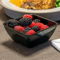 Dinex DXSB903 9 oz. Black Square SAN Plastic Bowl - 48/Case