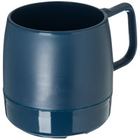 Dinex DX119750 Classic 8 oz. Dark Blue Stackable Insulated Mug - 48/Case