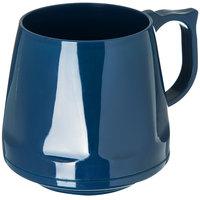 Dinex DX400050 Heritage 8 oz. Midnight Blue Stackable Insulated Mug - 48/Case