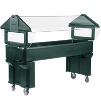 Carlisle 660608 Forest Green 6' Six Star Open Base Portable Food / Salad Bar