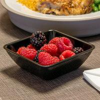 Dinex DXSB603 6 oz. Black Square SAN Plastic Bowl - 96/Case