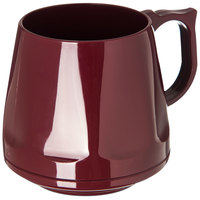 Dinex DX400061 Heritage 8 oz. Cranberry Stackable Insulated Mug - 48/Case