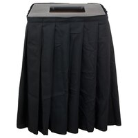 Buffet Enhancements 1BCTV20SET Black Square Topper with Black Skirting for 35 Gallon Trash Cans