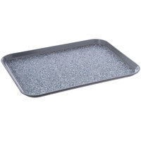 Dinex DXSMC1520NSM23 15 inch x 20 inch Glasteel Gray Marble Non-Skid Fiberglass Tray - 12/Case