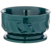 Dinex DX330008 Turnbury 9 oz. Hunter Green Insulated Bowl with Pedestal Base - 48/Case
