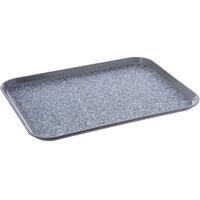 Dinex DXSMC1418NSM23 14 inch x 18 inch Glasteel Gray Marble Non-Skid Fiberglass Tray - 12/Case