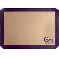 Choice 11 3/4 inch x 16 1/2 inch Half Size Allergen Free Purple Silicone Non-Stick Baking Mat