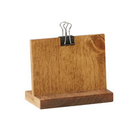 Cal-Mil 2036-32-99 Madera 4 inch x 2 inch x 3 1/4 inch Rustic Pine Clipboard Menu Holder