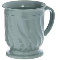 Dinex DX300084 Turnbury 8 oz. Sage Insulated Mug with Pedestal Base - 48/Case