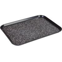 Dinex DXSMC1418NSM03 14 inch x 18 inch Glasteel Black Marble Non-Skid Fiberglass Tray - 12/Case
