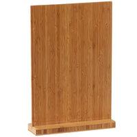 Cal-Mil 2036-811-60 9 1/4 inch x 2 1/2 inch x 13 1/2 inch Bamboo Clipboard Menu Holder