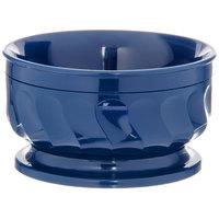 Dinex DX330050 Turnbury 9 oz. Dark Blue Insulated Bowl with Pedestal Base - 48/Case