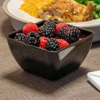 Dinex DXSB1203 12 oz. Black Square SAN Plastic Bowl - 48/Case