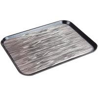 Dinex DXSMC1418NSQ03 14 inch x 18 inch Glasteel Black Quarry Non-Skid Fiberglass Tray - 12/Case