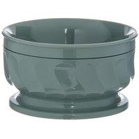 Dinex DX330084 Turnbury 9 oz. Sage Insulated Bowl with Pedestal Base - 48/Case