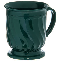 Dinex DX300008 Turnbury 8 oz. Hunter Green Insulated Mug with Pedestal Base - 48/Case